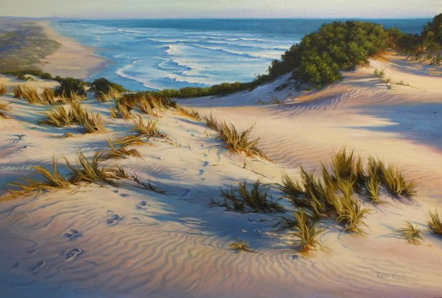 PAINTING A SAND DUNE WITH WIND RIPPLES – PARRAMATTA – SUNDAY FEB. 14TH 2021